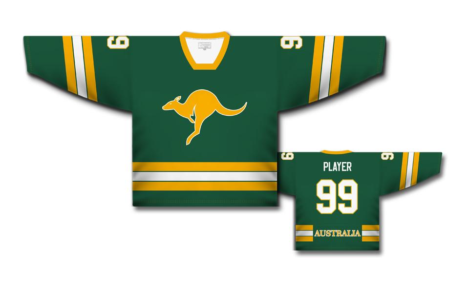 672ae17cb77a3 Austrália hokejový dres zelený