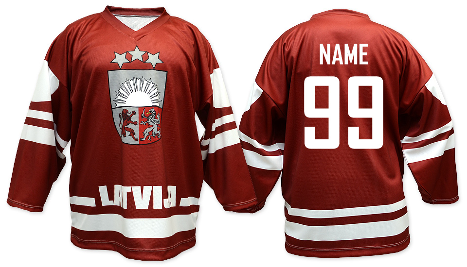 National Hockey Teams - Latvia hockey jersey dark  89c159307e5