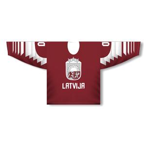 e492732e47bda Lotyšsko hokejový dres tmavý dizajn 2019 - Fanshop AllForFan.com