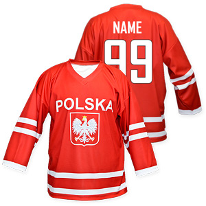 National Hockey Teams - Poland hockey jersey red  3b6751ef8ba
