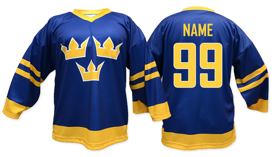 bce6993f6 Sweden hockey jersey blue